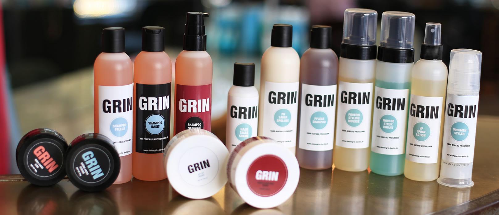 Lohengrin Frisör Berlin - Grin Produkte